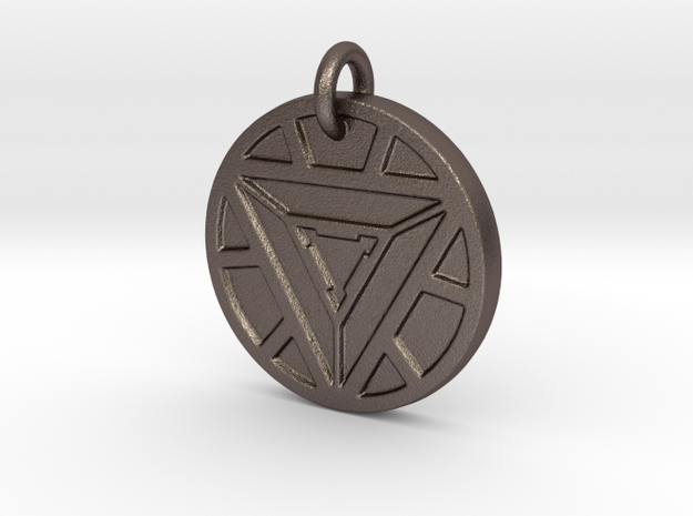 Marvel - Iron Man Arc Reactor (Pendant) in Polished Bronzed Silver Steel