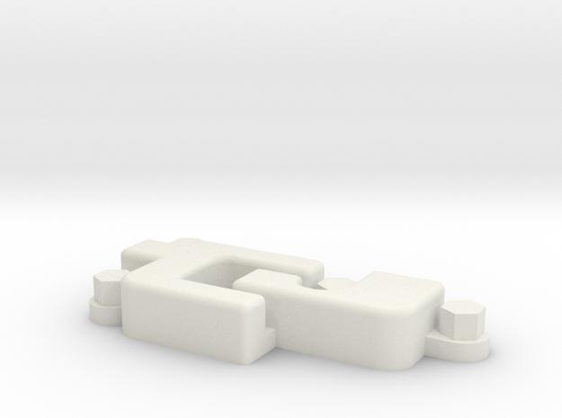 Upper Rear door hinge Defender body in White Natural Versatile Plastic