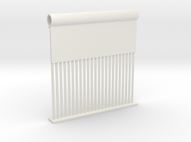 Border Wall Prototype (KWR Construction) 1:87 HO S in White Natural Versatile Plastic