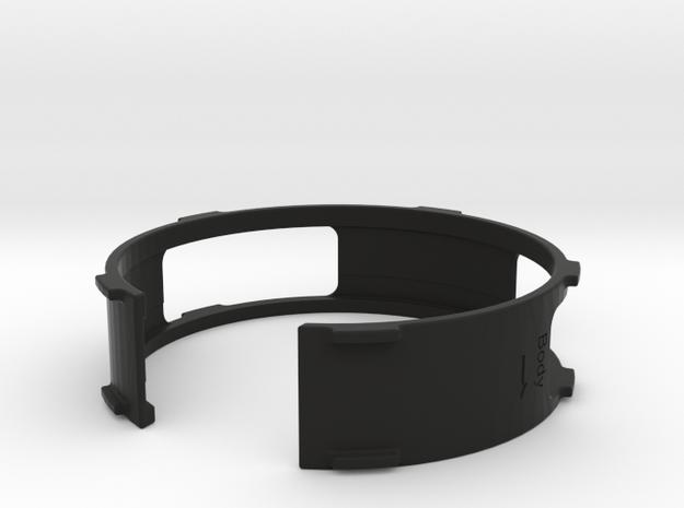 Lens adapter in Black Natural Versatile Plastic