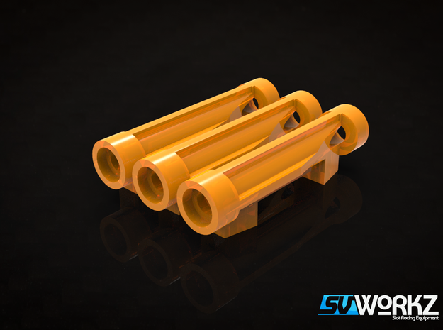 SV Workz - Scaleauto RT4 - 4.7mm bearing holders in Orange Strong & Flexible Polished