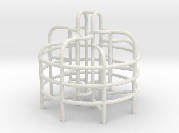 Playground Monkey Bars - HO 87:1 Scale in White Natural Versatile Plastic