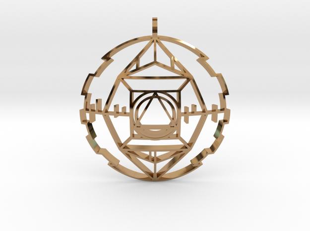 Golden Potentiator (Domed) in Polished Brass