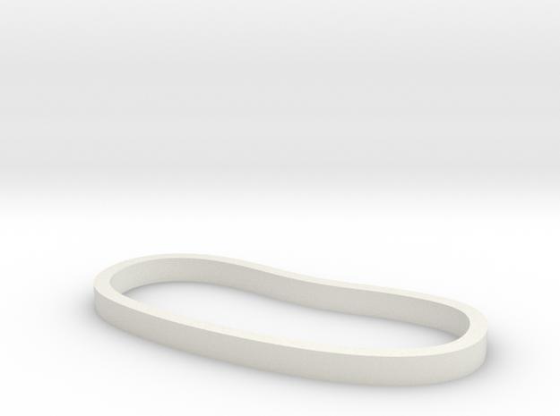 Plain Palm Cuff in White Natural Versatile Plastic: Extra Small