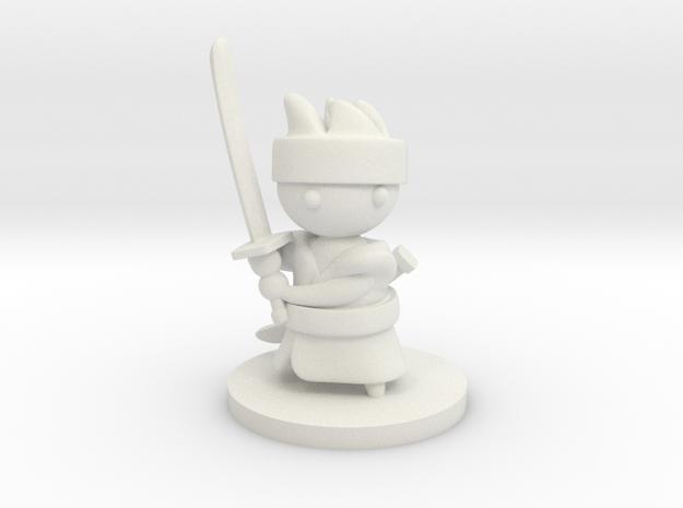 Samurai in White Natural Versatile Plastic