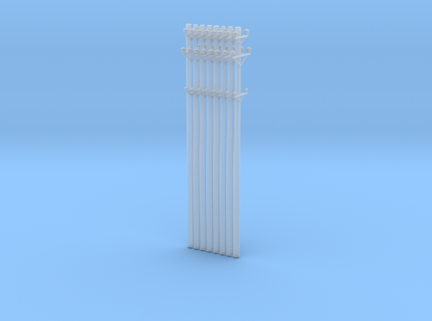 Great Northern Catenary Poles - 8 pack in Smooth Fine Detail Plastic