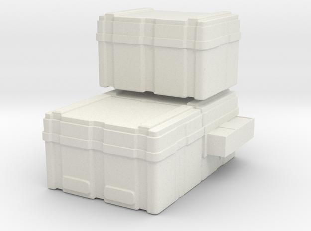 SULACO large cargoboxes 1:72 scale in White Natural Versatile Plastic
