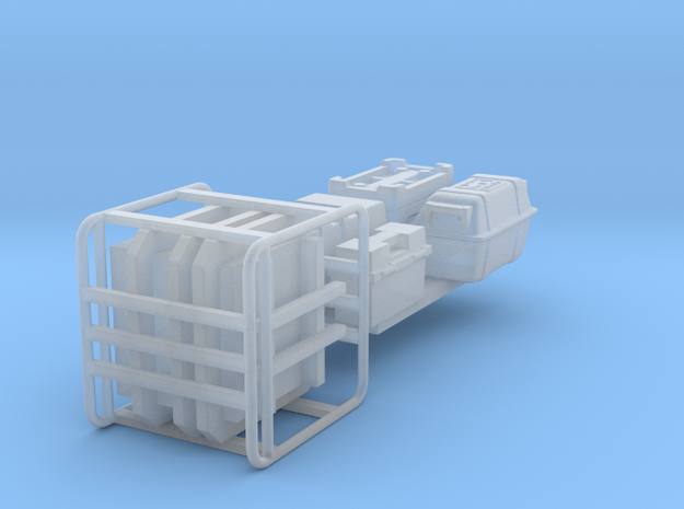 ALIEN small cargo items 1:72 scale in Smooth Fine Detail Plastic