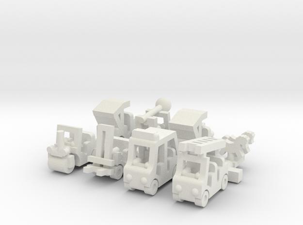 "Besatzungsset ""Upscale"" 2 - 1:87 (H0 scale) in White Natural Versatile Plastic"