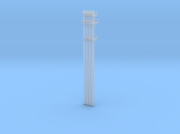 Great Northern Catenary Poles -4 pack  in Smooth Fine Detail Plastic