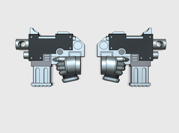 20x M1:Standard Combat Pistol (Left + Right) in Smooth Fine Detail Plastic