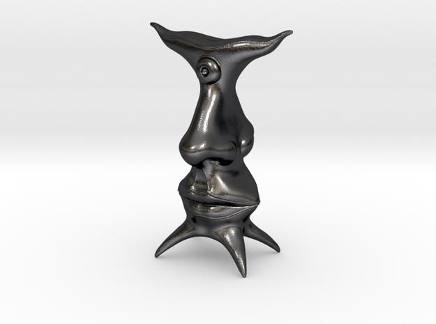 salmai_dalmai_adonai in Polished Grey Steel: Medium