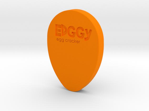 Edggy - The egg cracker in Orange Processed Versatile Plastic