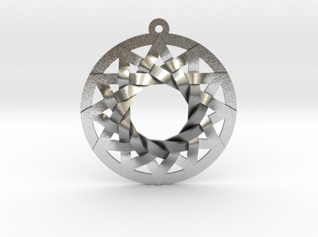 "Star of Metatron Pendant 1"" in Natural Silver"