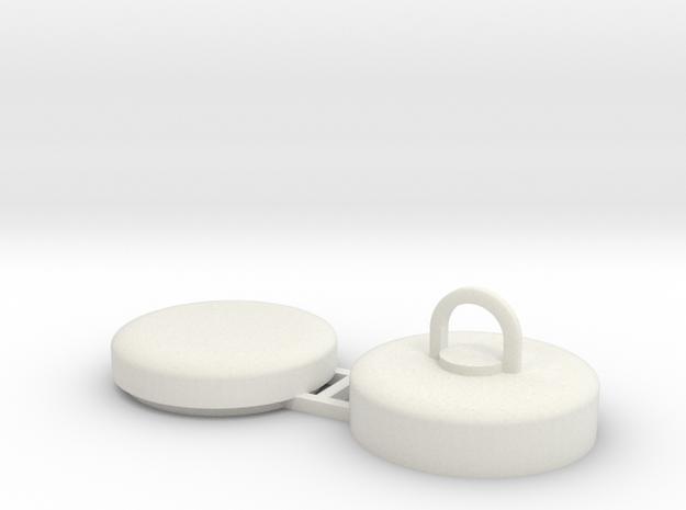 Tonnenstein 1:50/40/32/25/20 in White Natural Versatile Plastic: 1:50