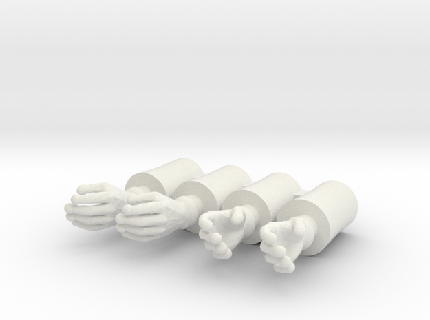 Simple Time Gloves 4 pack in White Strong & Flexible