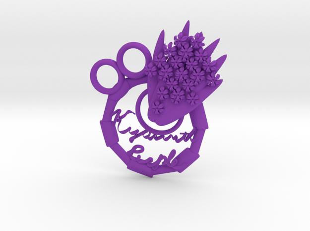 Purple Hyacinth in Purple Processed Versatile Plastic