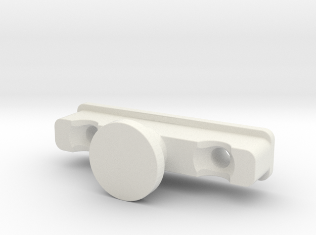 Replacement for Ikea KVARTAL glider/slider (male) in White Natural Versatile Plastic