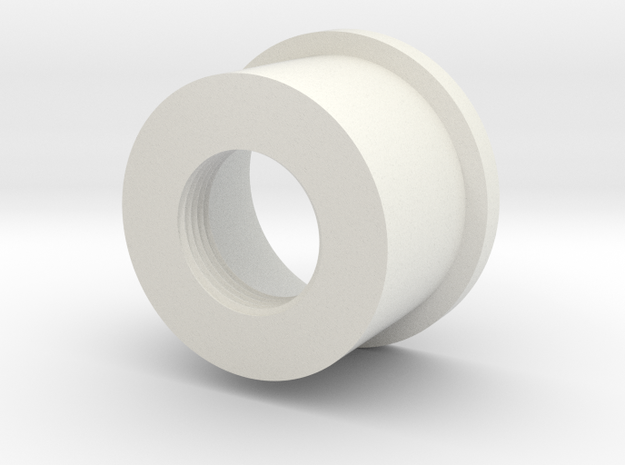 MHS Compatible Hilt Adapter w/integral threads in White Natural Versatile Plastic