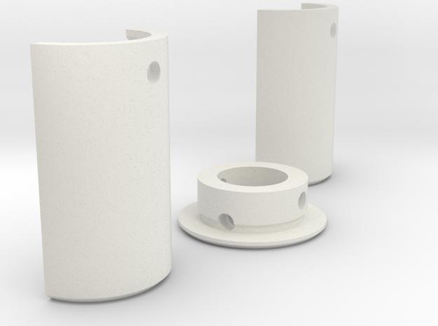 "1""  Pixel Strip Blade Adapter v4 in White Natural Versatile Plastic"