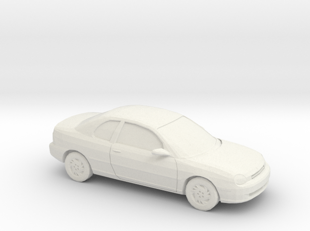 1/64 1995 Dodge Neon Coupe in White Strong & Flexible