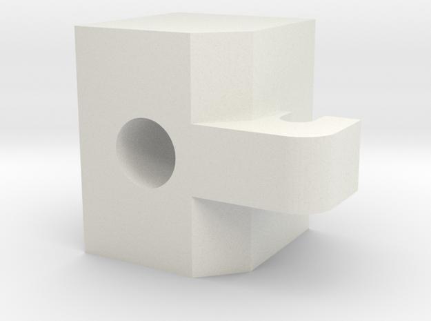 Turnigy 9XR Pro Spring Tensioner Mod in White Natural Versatile Plastic