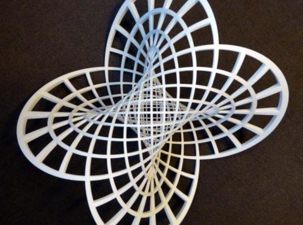 Clifford Torus (Very Large) in White Natural Versatile Plastic