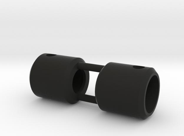 Rear Carrier Set in Black Strong & Flexible: 1:10