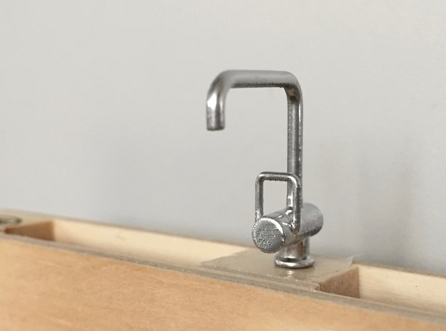 1:12 Tap modern Kitchen or Bathroom in Frosted Ultra Detail
