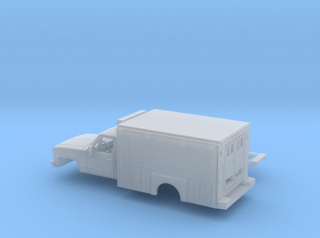 1/87 1980-88 Chevy Silverado RegCab Ambulance Kit in Smooth Fine Detail Plastic