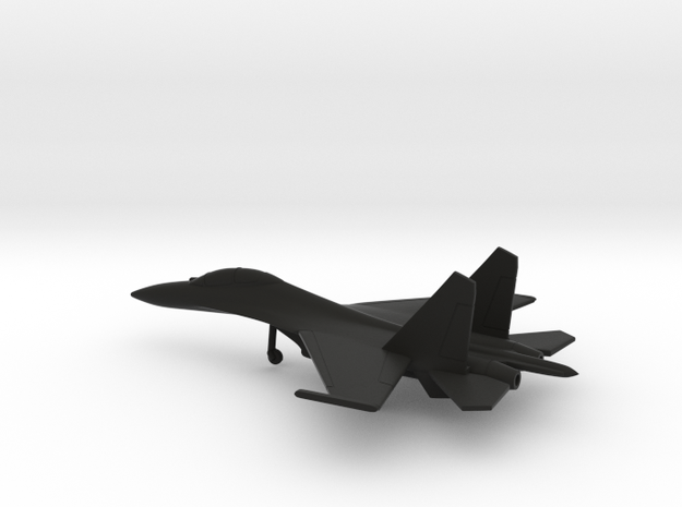Sukhoi Su-30 Flanker-C in Black Natural Versatile Plastic: 6mm