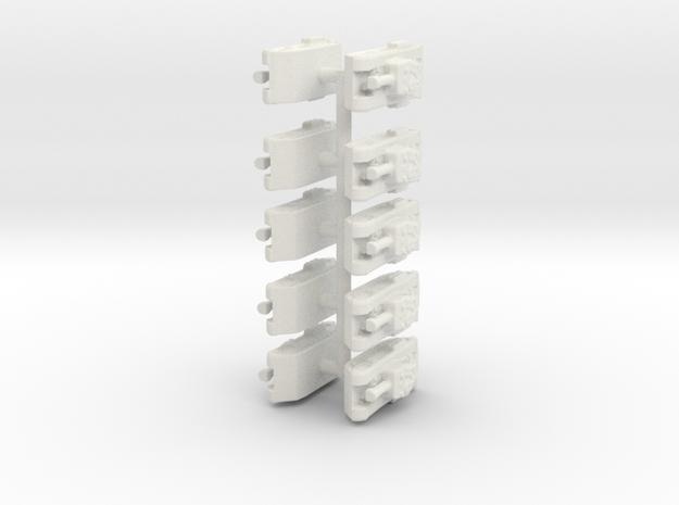 Churchill set board game piece in White Natural Versatile Plastic