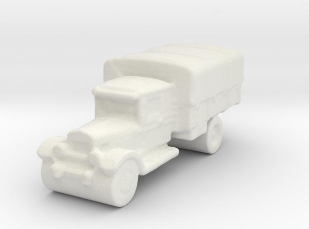 ZIS-5 board game piece in White Natural Versatile Plastic