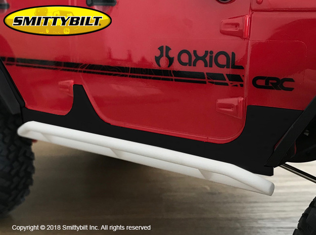 JK17008 Smittybilt Rock Sliders in Black Natural Versatile Plastic