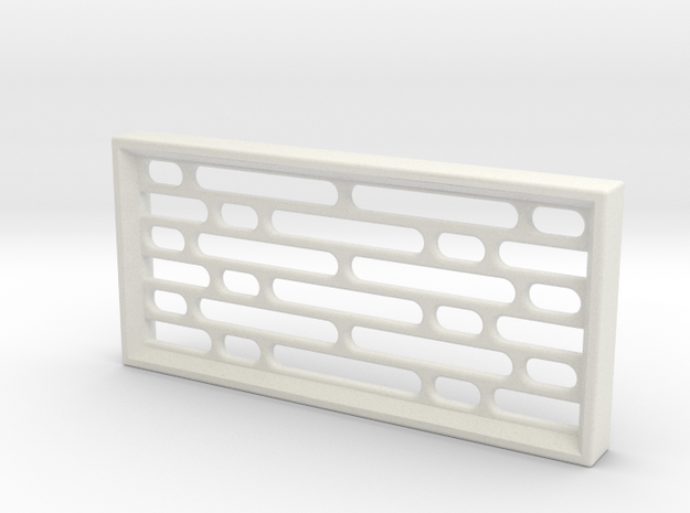 Geometric Pattern Wall Panel - Star Wars Style in White Natural Versatile Plastic