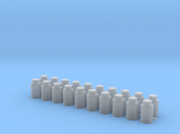 Thirteen Gallon (50 L) Cylindrical Milk Churn in Smooth Fine Detail Plastic: 1:48 - O