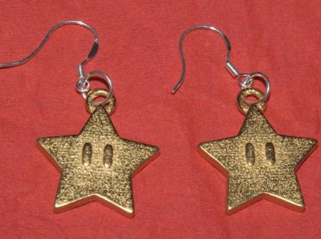 mario star v2 in Polished Gold Steel