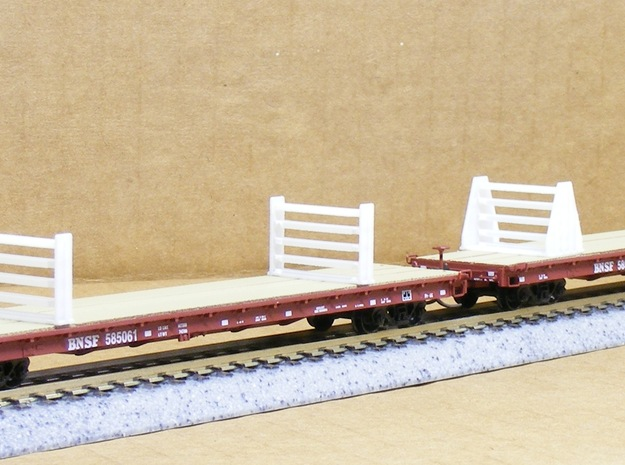 MOW Rail Frames - Nscale in Smooth Fine Detail Plastic