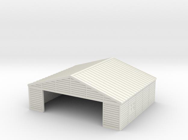 1:285 Wooden Hangar 1 in White Natural Versatile Plastic