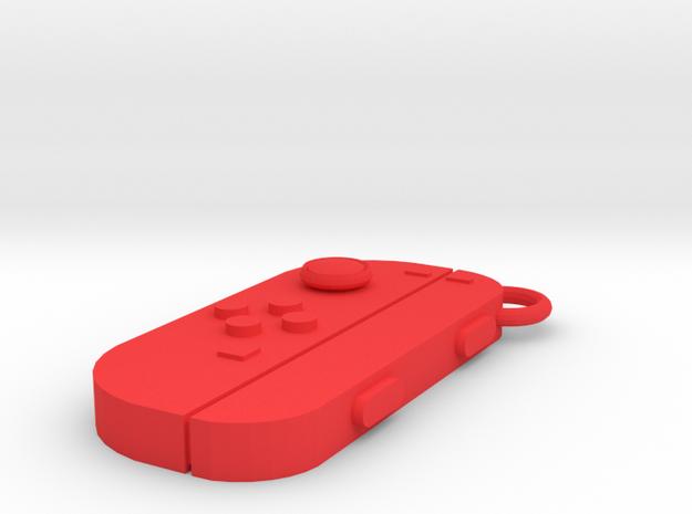 Nintendo Switch Joy-controller left keychain  in Red Processed Versatile Plastic