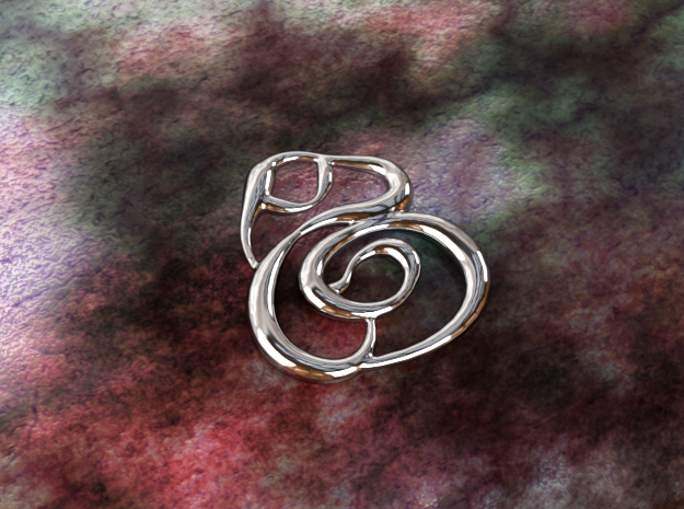 Swirly circles in Polished Silver