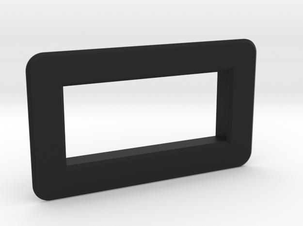 "Bezel for 0.28"" voltmeter in Black Natural Versatile Plastic"