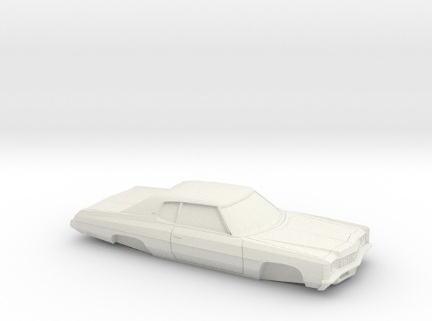 1/32 1971 Chevrolet Impala Custom Coupe in White Natural Versatile Plastic
