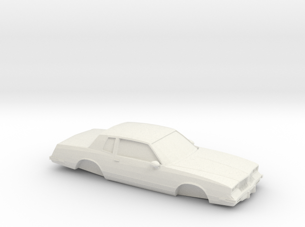 1/32 1983 Oldsmobile Cutlass Supreme in White Natural Versatile Plastic