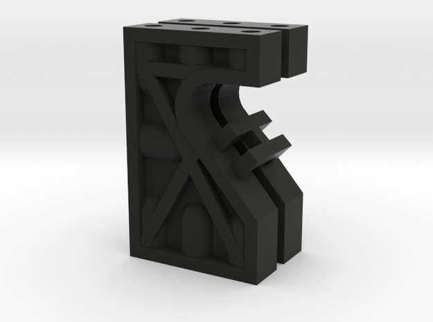 Kyosho Maxxum FF Servo Mounts in Black Natural Versatile Plastic