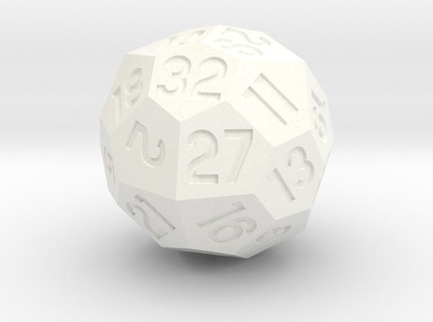 d32 Octahedron + Deltoidal Icositetrahedron in White Processed Versatile Plastic