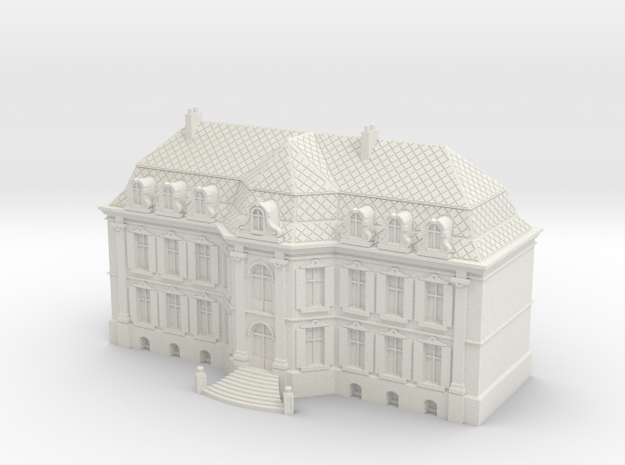 1:350 Chaeteau Roucourt Main Building in White Natural Versatile Plastic