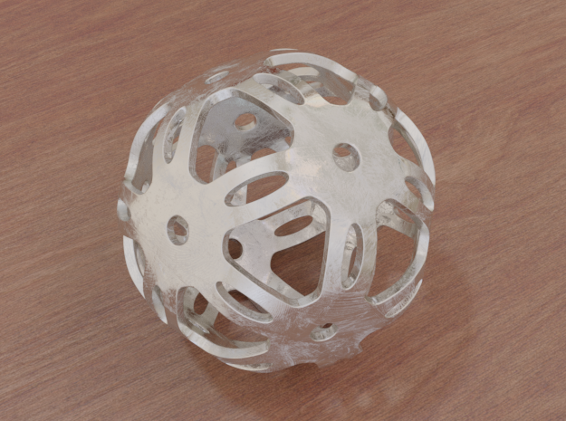 Well Rounded Symmetrical Sphere  in White Natural Versatile Plastic: Medium