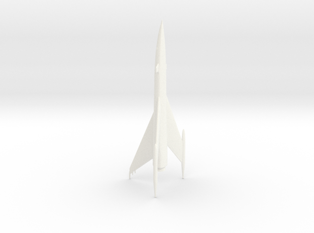 """""""Space Angel"""" - Starduster Ship Miniature in White Processed Versatile Plastic"""