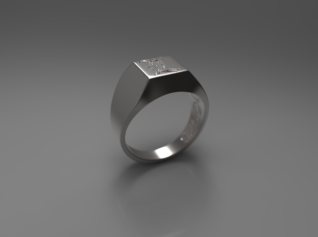 Letter L Ring 001 3d printed
